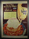 1952 Reddi-Wip Whipped Cream Ad - Strawberries Sing!