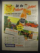 1952 Mission Orange Soda Ad - California Jackpot