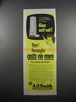 1951 A.O. Smith Water Heater Ad - Glass Can't Rust