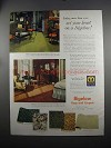 1951 Bigelow Rugs and Carpets Ad - Set Your Heart On