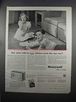 1951 Honeywell Electric Clock Thermostat Ad - Colds