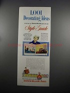 1951 Sherwin-Williams Paints Ad - Decorating Ideas