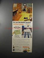 1951 Kentile Flooring Ad - Don't Miss These Floors