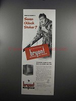 1951 Bryant Automatic Gas Heating Ad - Seven O'Clock