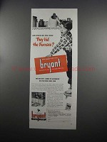 1951 Bryant Automatic Gas Heating Ad - Hid the Furnace