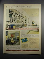 1951 Pittsburgh Plate Glass Ad - Glamor With Glass