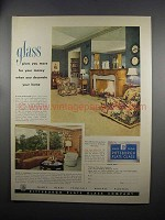 1951 Pittsburgh Plate Glass Ad - More For Your Money
