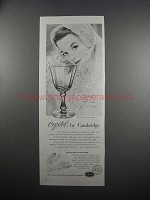 1951 Cambridge Corinth Crystal Goblet Ad