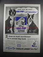 1951 Kellogg's Gro-Pup Ribbon Dog Food Ad