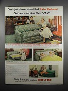 1951 Simmons Hide-A-Bed Ad - Don't Just Dream