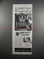 1951 General Electric Black-Daylite TV Model 17C107 Ad