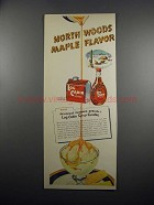 1951 Log Cabin Syrup Ad - North Woods Maple Flavor