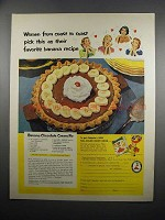 1951 Chiquita Bananas Ad - Banana Chocolate Cream Pie
