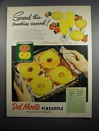 1951 Del Monte Pineapple Ad - Spread This Sunshine