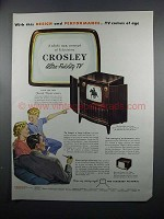 1950 Crosley Televisions Ad - Model 10-412 and 10-404