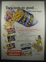 1950 Planters Cocktail Peanuts & Mixed Nuts Ad