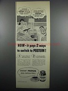 1950 Instant Postum Ad - It Pays 2 Ways to Switch