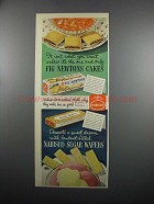 1950 Nabisco Fig Newtons and Sugar Wafers Ad