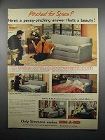 1950 Simmons Hide-A-Bed Ad - Pinched for Space?