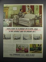 1950 Simmons Hide-A-Bed Ad - Dream of a Sofa