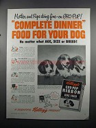 1950 Kellogg's Gro-Pup Ribbon Dog Food Ad