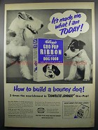 1950 Kellogg's Gro-Pup Ribbon Dog Food Ad - Made Me