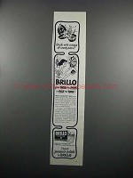 1950 Brillo Cleanser Ad - Mess of Crusty Pans?