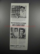 1950 Windex Spray Ad - Housewives Are Changing Back