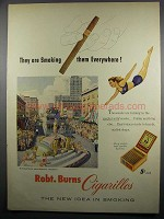 1950 Robt. Burns Cigarillos Ad, Minneapolis Aquatennial