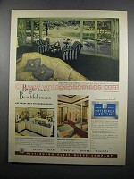 1950 Pittsburgh Plate Glass Ad - Bright Rooms