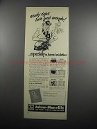 1950 Johns-Manville Rock Wool Insulation Ad