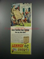 1950 Lennox Heating System Ad - More Families Buy