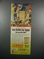 1950 Lennox Heating System Ad - More Families
