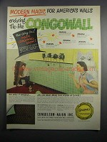 1950 Congoleum-Nairn Congowall Ad - Modern Magic