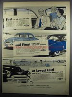1950 Chevrolet Car Ad - Bel Air & Styline Convertible