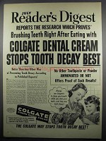 1950 Colgate Ribbon Dental Cream Ad - After Eating