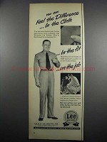 1950 Lee Work Clothes Ad - Feel The Difference