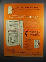 1949 Philco Refrigerator Ad - Down to the Floor