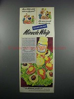 1949 Kraft Miracle Whip Salad Dressing Ad - Pear