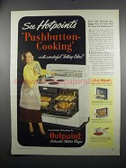 1949 Hotpoint Automatic Electric Ranges Ad