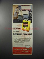 1949 Self-Polishing Simoniz for Floors Ad - Outshines