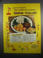 1949 Chiquita Bananas Ad - Banana Scallops Recipe