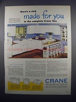 1949 Crane Sinks Ad - Kitchen Queen, Kitchen Pride