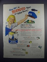 1949 Dutch Boy Paints Ad - Caps Off!