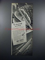 1949 Ekco Flint Vanadium Knives Ad - Easter Ham