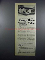 1949 Weyerhaeuser Lumber Ad - House Design No. 4136