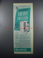 1949 Amana Freezer Model 18 Ad - The Finest