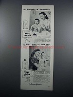 1949 Johnson's Baby Powder and Baby Lotion Ad
