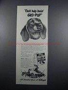 1949 Kellogg's Gro-Pup Dog Food Ad - Can't Help