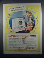1949 Westinghouse Laundromat Automatic Washer Ad